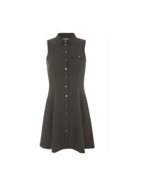 Miss Selfridge Khaki Shirt Dress