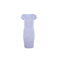 Closet Lilac Curve Seam Dress