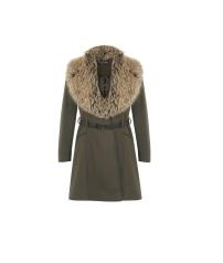 Miss Selfridge Khaki Collar Coat, £89