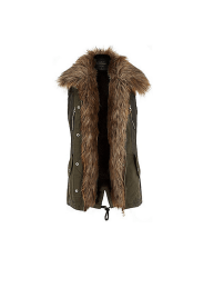 River Island Faux Fur Lined Gilet, £75