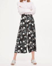 Topshop Mix Blossom Crop Wide Leg Trousers
