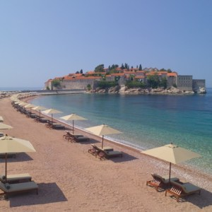 Montenegro Aman Sveti Stefan private beach - The Style Lovers