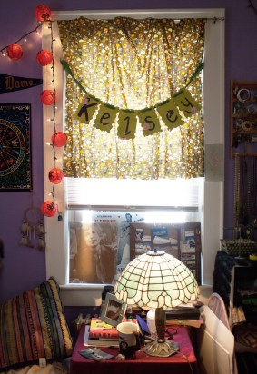 This stained glass lamp resembles my favorite artist, Louis Tiffany.