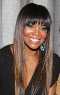 Gabrielle Union Tries A New Look Blunt Bangs and Ombre ...