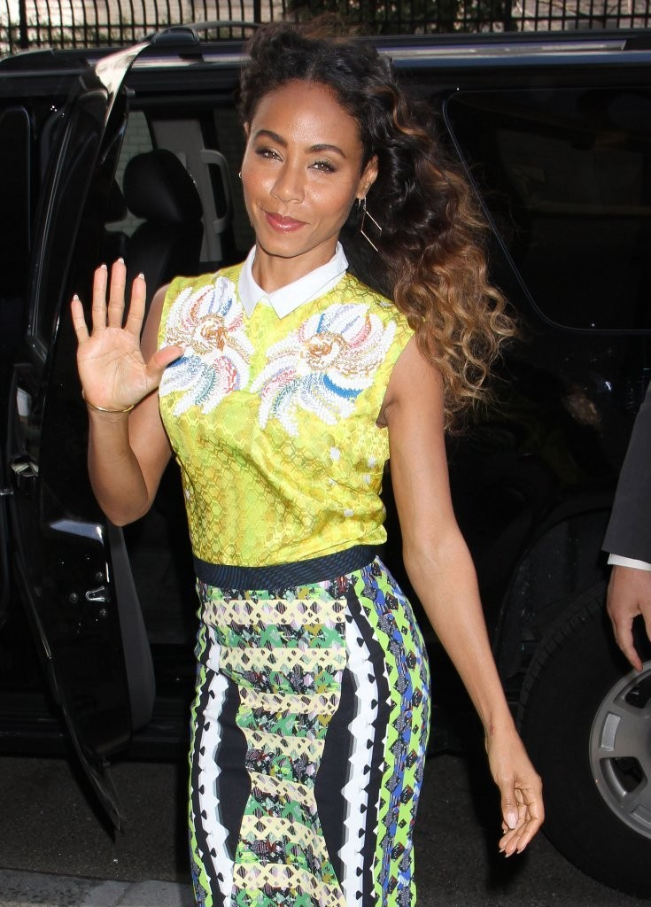 Jada Pinkett Smith Brings Back Ombre Trend With Bouncy