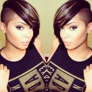 shaved hairstyle ideas black