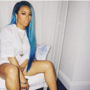 keyshia cole debuts bold blue hair