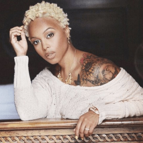 Chrisette Michele Goes Platinum Blonde With New Hair Color The
