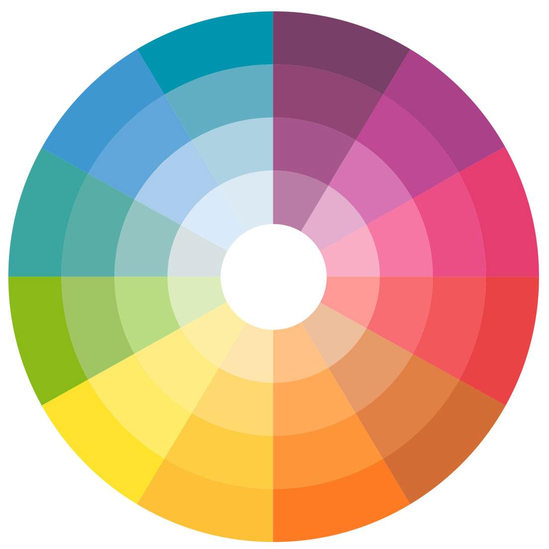Waitsfield Elementary Art Color Wheels
