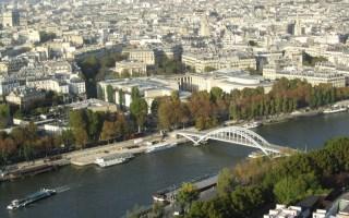 Paris view river seine