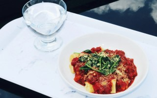 doing things alone - tomato pasta and water - The Style of Laura Jane