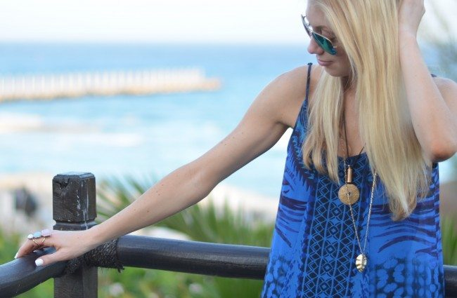 Express Cobalt Blue Maxi Dress // thestylesafari.com