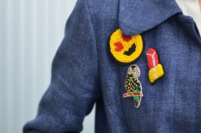 handmade diy emoji beaded pins // thestylesafari.com