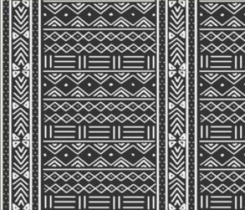 charcoal grey and white african mudcloth print fabric // thestylesafari.com