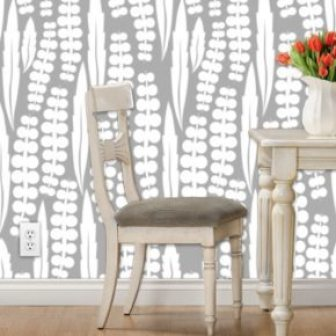 white grey wisteria silhouette print // thestylesafari.com
