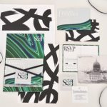 Modern malachite green, grey black white and marble wedding invitations designed by Stefanie Schoen // thestylesafari.com