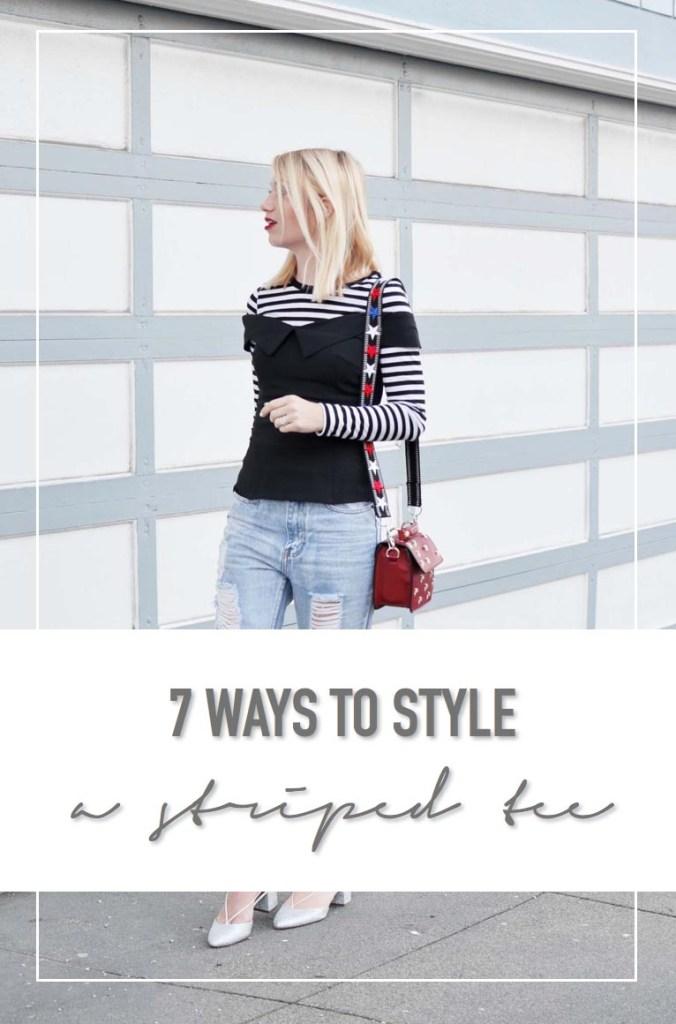 7 Ways to Style a black and white stripe tee