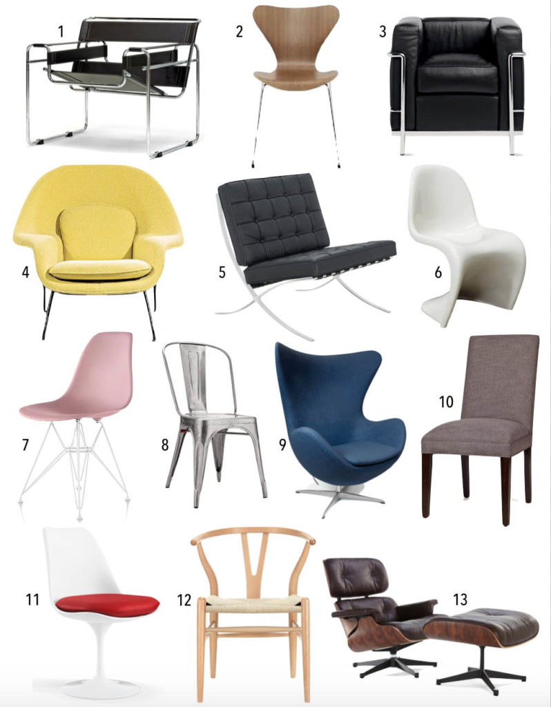 dining chair styles and names lane leather office staples design quiz: famous 20th century chairs • thestylesafari