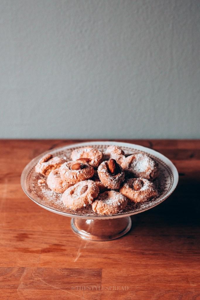 Moroccan ghoriba cookies