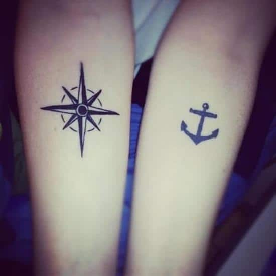 43-Compass-and-Anchor-Matching-Tattoos