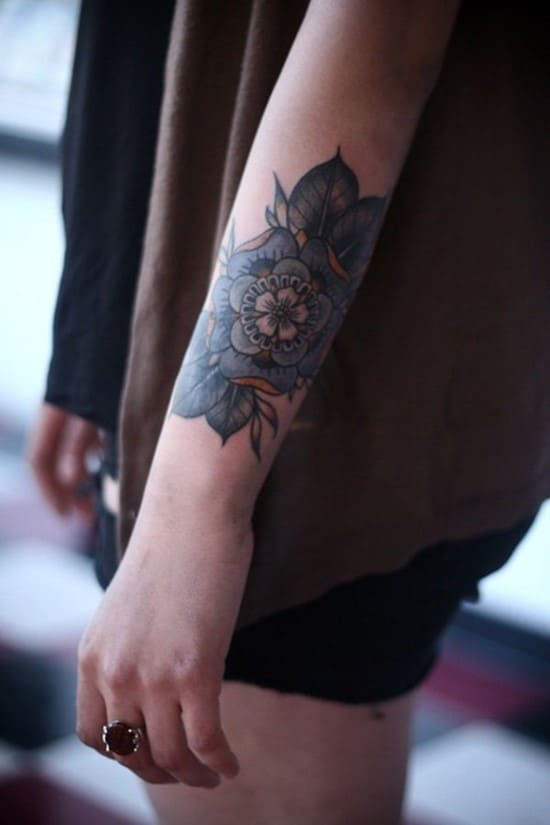 10-Flower-Forearm-Tattoo