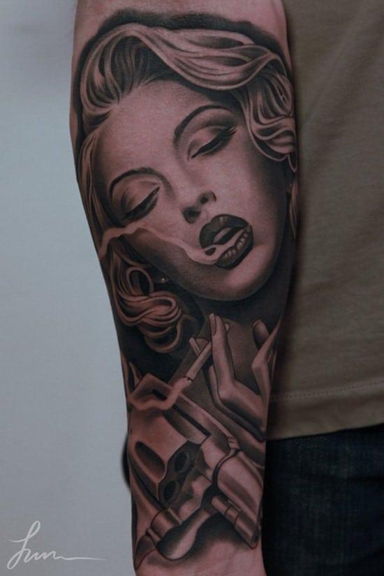 31-Beautiful-Portrait-Forearm-Tattoo