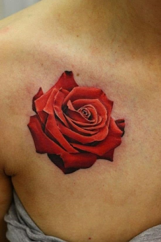 3D-rose-collar-bone-tattoo