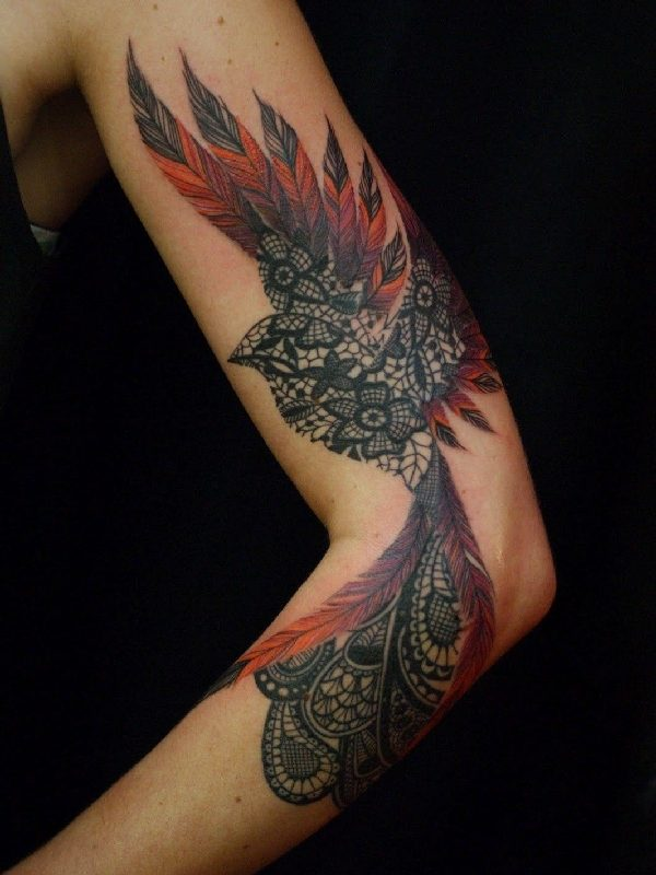 Fire Female Phoenix Tattoo Designs