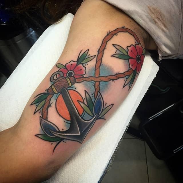 Infinity And Cross Tattoo Designs
