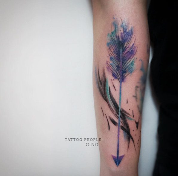 Arrow With Lotus Flower Tattoo Meaning