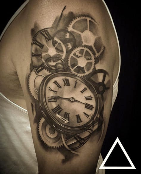 Double Pocket Watch Tattoo : double, pocket, watch, tattoo, Inspirational, Pocket, Watch, Tattoo, Ideas, (Ultimate, Guide, 2021)
