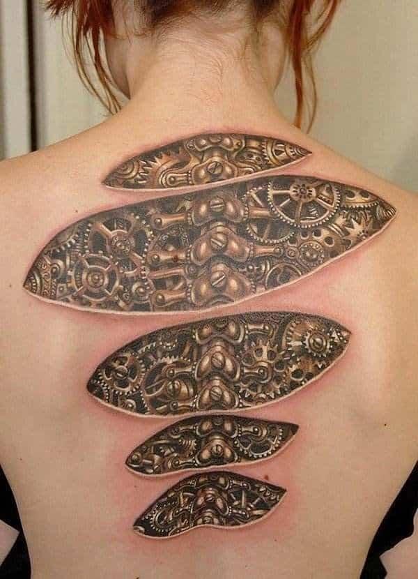 3D Spinal Tattoos