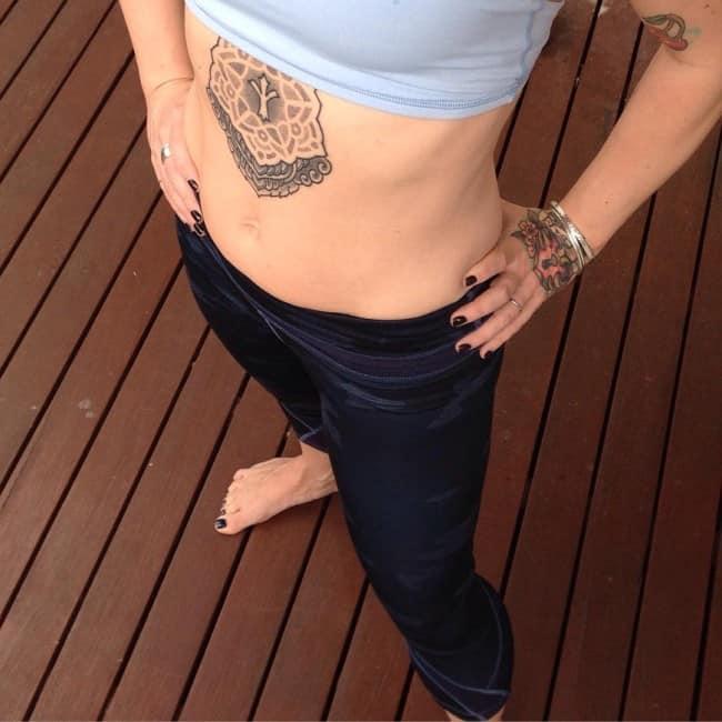 stomach tattoos