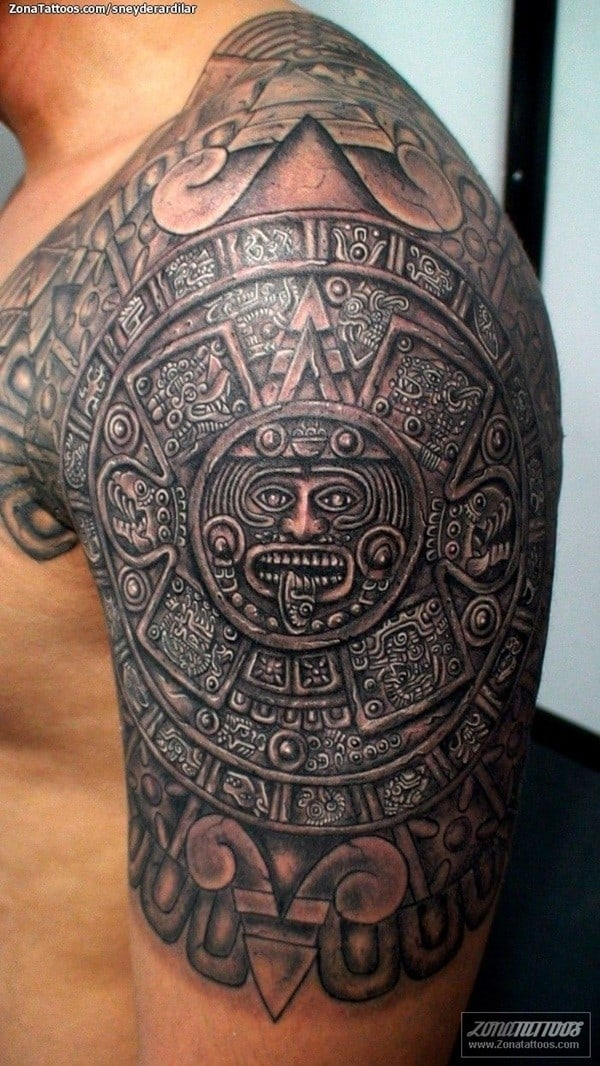 Aztec Sleeve Tattoos : aztec, sleeve, tattoos, Tribal, Aztec, Tattoos, (Ultimate, Guide, 2021)