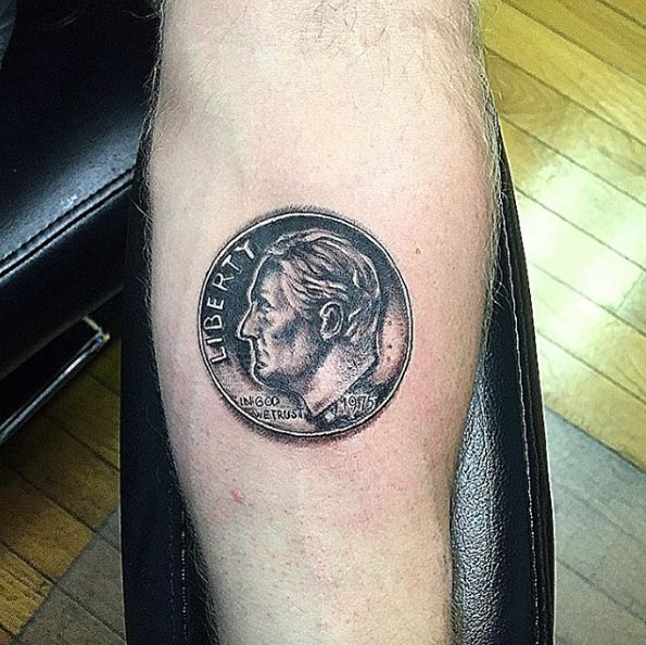 Dime Tattoo by Incredible Ink