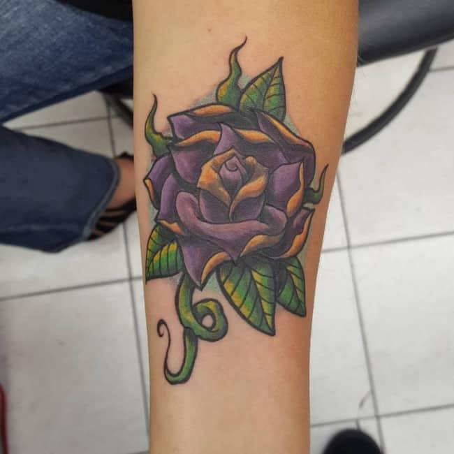 Skull And Rose Tattoo For Men