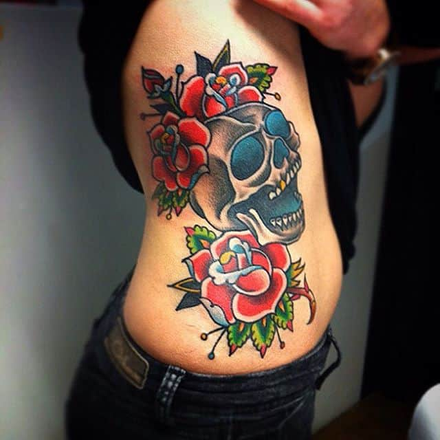 Skull Rose Tattoo Drawing