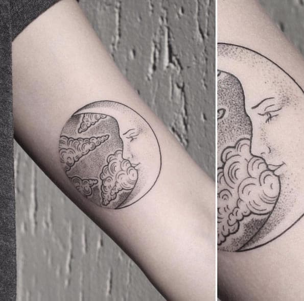 Crescent Moon Tattoo by Rachainsworth