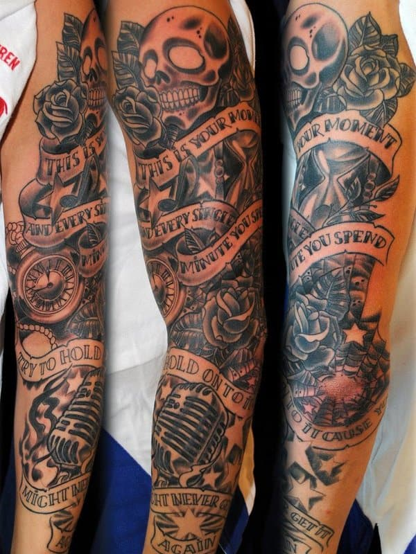 Lower Half Arm Sleeve Tattoos For Guys