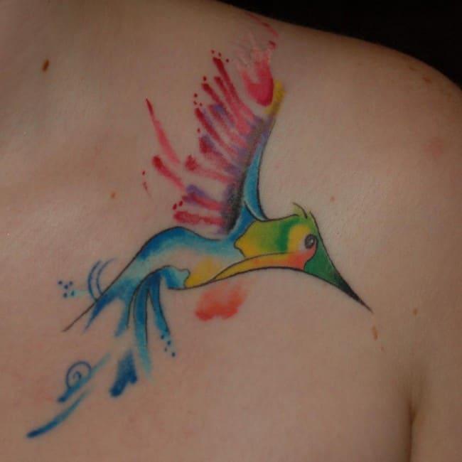 Hummingbird Tattoos For Females