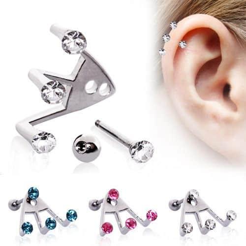 Trident Helix Piercing Jewelry Inspiration