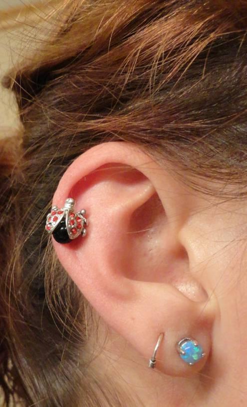 Ladybug Cartilage Earring