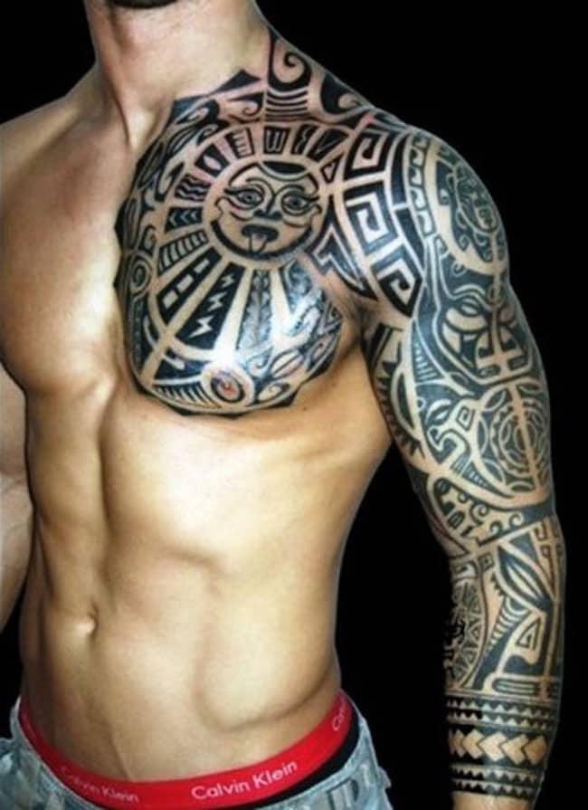 polynesian-pug-sleeve-tattoo
