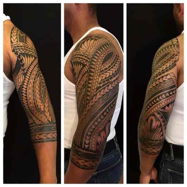 tribal samoan tattoos men