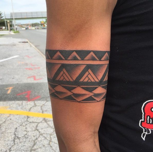 Aztec Tribal Band Tattoo Designs
