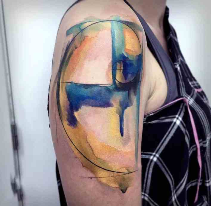watercolor tattoo on arm