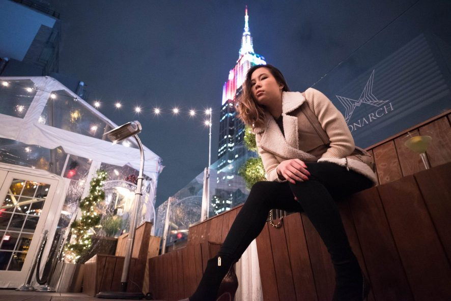 Kasey Ma of TheStyleWright at Monarch Rooftop and Indoor Lounge Garment District