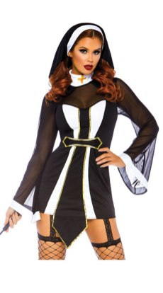 Twisted Sister nun costume yandy halloween