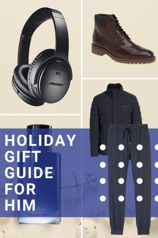 Holiday Gift Guide For Him TheStyleWright Kasey Ma Anker Bose Ray Ban Amazon Gifts Daniel Wellington Workout Gear Joggers Men's Boots Adidas Ultraboost Socks Ties Scarfs The Tie Bar Whiskey Glasses Cocktail Bar