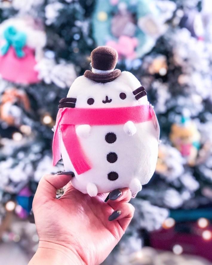 Pusheen snowman japanese plushie